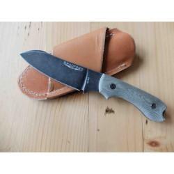 Couteau Bradford Knives Guardian 3 Nimbus Lame Acier N690 Manche Micarta Etui Cuir Made In USA BRAD3SF102N - Livraison Gratuite