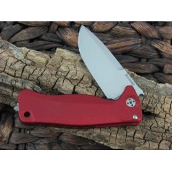 Couteau Lion Steel SR22 Red Lame Acier Sleipner Manche Aluminium Framelock Made Italy LSTSR22ARS - Livraison Gratuite