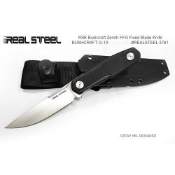 Couteau Real Steel Bushcraft Zenith FFG Lame Acier 14C28N Manche G-10 Etui Kydex RS3761 - Livraison Gratuite