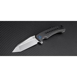 Couteau Artisan Apache Lame Acier S35VN Manche Fibre de Carbone ATZ1705PCF - Livraison Gratuite