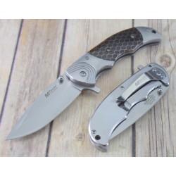 Lot de 2 Couteau Mtech Gentleman Folder A/O Manche C-Tek Lame Acier 3Cr13 Framelock MTA1029BR - Livraison Gratuite