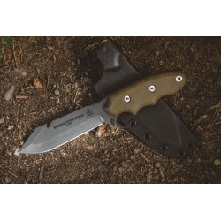 Couteau TOPS Knives Backpacker's Bowie Acier Carbone 1095 Guthook Manche Micarta Etui Kydex USA TPBPB01 - Livraison Gratuite