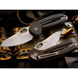 Couteau Nemesis Holey Moley Lame Acier 9Cr13CoMoV Manche G-10 Linerlock Pocket Clip NE18 - Livraison Gratuite
