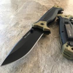 TF981TN Couteau Tac Force A/O Military Lame Acier 3Cr13 Manche Tan FRN - Livraison Gratuite