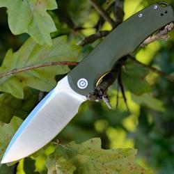 Couteau CIVIVI PRAXIS Lame Acier 9Cr18MoV Manche Green G-10 Linerlock CIVC803A - Livraison Gratuite