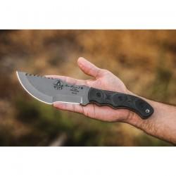 Couteau TOPS Tom Brown Tracker T-3 Lame Acier 154CM Manche Micarta Etui Kydex Made USA TPTBT031 - Livraison Gratuite