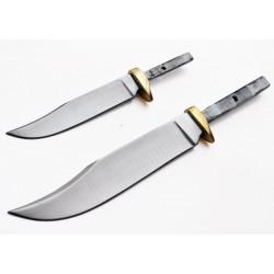 Lot de 2 Lames à Customiser Clip Point Lames Acier Inox Garde Laiton BL004-BL005 - Livraison Gratuite