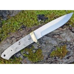 Lot de 3 Lames à Customiser Skinner Drop Point Lame Acier Inox Garde Laiton BL7709 - Livraison Gratuite