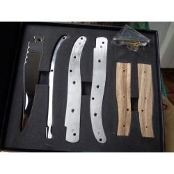 Couteau En Kit A Assembler Couteau Façon Laguiole Acier Inox Manche Bois Coffret MI159 - Livraison Gratuite