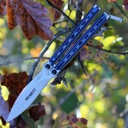 Couteau Bradley Kimura Balisong Butterfly Lame Acier 154CM Blue G-10 Made In USA BCC905 - Livraison Gratuite