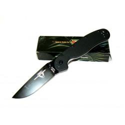 ON8846 Couteau Ontario RAT-1 Acier AUS-8 Black Manche Fibre de Nylon Linerlock - Livraison Gratuite