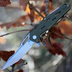 Couteau Artisan Interceptor Green Manche G-10 Lame Acier D2 Linerlock Clip ATZ1812PSGN - Livraison Gratuite