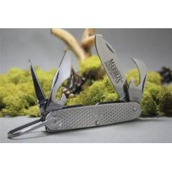 MR278 Lot de 2 Couteaux Marbles GI Utility Knife 4 Tool Ouvre Bouteilles Tournevis - Livraison Gratuite