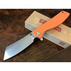 Couteau Artisan Tomahawk D2 Manche Orange G-10 Lame Acier D2 Linerlock Clip ATZ1815POEF - Livraison Gratuite