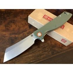 Couteau Artisan Tomahawk D2 Manche Green G-10 Lame Acier D2 Linerlock Clip ATZ1815PGNF - Livraison Gratuite