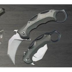 Couteau Defcon Karambit Lame Acier S35VN Manche Titane Framelock TF5221 - Livraison Gratuite