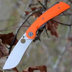 Couteau Spyderco Subvert Orange Lame Acier CPM-S30V Manche Titane & G-10 Linerlock Clip SC239GPOR - Livraison Gratuite
