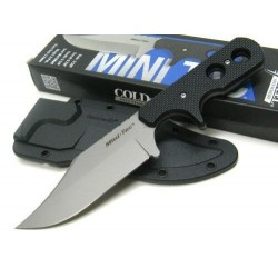 Couteau Cold Steel Mini Tac Bowie Lame Acier 8Cr13MoV Manche Griv-Ex Etui Secure-Ex CS49HCF - Livraison Gratuite