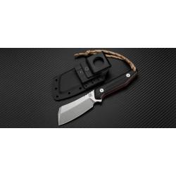 Couteau Artisan Osprey Lame Acier D2 Manche Black & Red G-10 Etui Kydex ATZ1803BBRE - Livraison Gratuite