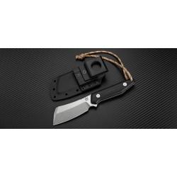 Couteau Artisan Osprey Lame Acier D2 Manche Black G-10 Etui Kydex ATZ1803BBGC - Livraison Gratuite