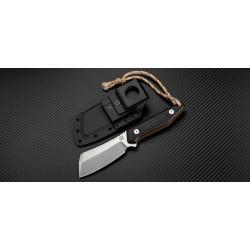 Couteau Artisan Osprey Lame Acier D2 Manche Black/Orange G-10 Etui Kydex ATZ1803BBOE - Livraison Gratuite