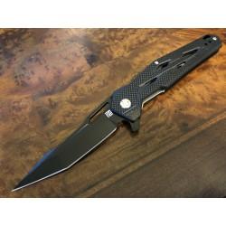 Couteau Artisan Interceptor Black Manche G-10 Lame Acier Black D2 Linerlock Clip ATZ1812PBBK - Livraison Gratuite