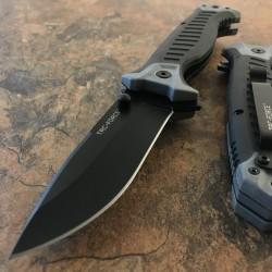 TF981GY Couteau Tac Force A/O Military Lame Acier 3Cr13 Manche Gray FRN - Livraison Gratuite