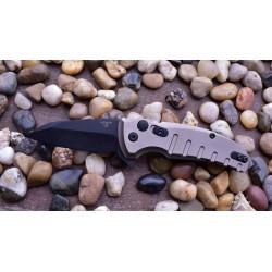 HO24167 Hogue Elishewitz X1 Microflip CPM-154 Black Blade FDE Aluminum Handles Push Button USA - Livraison Gratuite