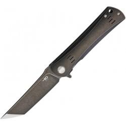 BTKT1903B Bestech Kendo Black Titanium Handle Plain S35VN Blade Framelock Clip - Livraison Gratuite