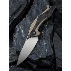 Couteau CIVIVI Plethiros Tan Lame Acier D2 Manche G-10/Fibre de Carbone Linerlock CIVC904A - Livraison Gratuite