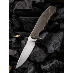 WE910A We Knife Co 37 Framelock Bronze Titanium Handle M390 Blade Frame Lock Clip - Livraison Gratuite