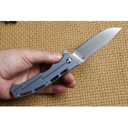 Couteau CH Knives Blue Lame Acier D2 Manche Titane Linerlock Clip CH3009 - Livraison Gratuite