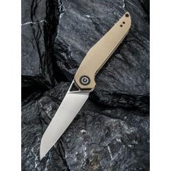 Couteau CIVIVI Mckenna Tan Lame Acier D2 Manche G-10 Linerlock Clip CIVC905A - Livraison Gratuite