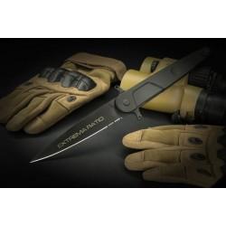 EX0497BLK Extrema Ratio BF4 Lucky Linerlock Black N690Co Blade Aluminium Handle Italy - Livraison Gratuite