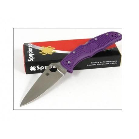 Couteau SPYDERCO Endura 4 - Spyderco Purple FRN ENDURA 4 Plain SC10FPPR