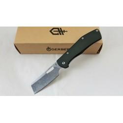 Couteau Gerber Flatiron Cleaver Lame Acier 7Cr17MoV Manche Black Aluminium Framelock Clip G1494 - Livraison Gratuite