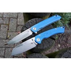 Couteau CH Knives Toucan Lame Acier D2 Manche Blue G-10 Linerlock Clip CHTOUCANS - Livraison Gratuite