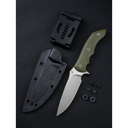 WE919A We Knife Co Stonefish CPM 20CV Blade Green G10 Handle Kydex Sheath - Livraison Gratuite