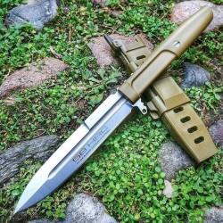 Couteau Extrema Ratio Requiem Wolf Green Dagger Lame Acier N690 Manche Forprene Etui Nylon Italy EX0478GRN - Livraison Gratuite
