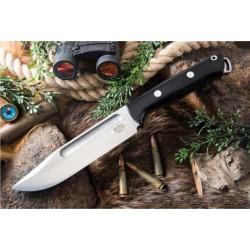 Couteau Bark River Squad Leader Black Lame Acier CPM 3V Manche Micarta Etui Cuir BA07222MBC - Livraison Gratuite