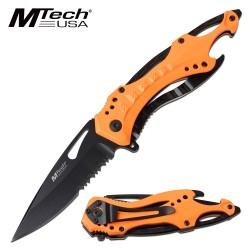 MTA705NOR Couteau Linerlock A/O Neon Orange Aluminium Handle 3Cr13 Blade - Livraison Gratuite