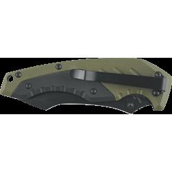 Couteau Defcon 5 Kilo Lame Acier 8Cr13MoV Manche G-10 Green/Black Linerlock Clip D5K010 - Livraison Gratuite