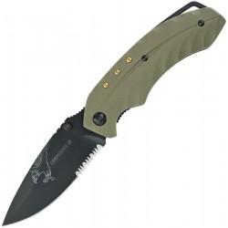 Couteau Defcon 5 Foxtrot Lame Acier 8Cr13MoV Manche G-10 Green Linerlock Clip D5K006 - Livraison Gratuite