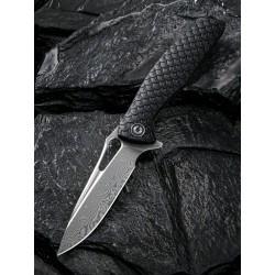 Couteau Civivi Wyvern Damas Manche Black GFR Dragon Lame Acier Damas Linerlock Clip CIVC902DS - Livraison Gratuite