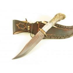 Couteau Ken Richardson Knives Bowie Manche Elan Lame Acier 1085HC Etui Cuir USA KRK1410 - Livraison Gratuite