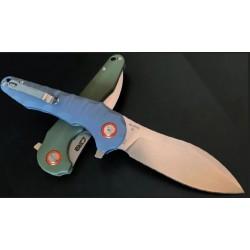 Couteau CJRB Mangrove Blue/Gray Lame Acier D2 Manche G10 Linerlock Clip J1910GYC - Livraison Gratuite