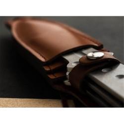 Lot de 9 Couteaux De Lancer Boker Magnum Bailey Ziell II Throwing Set Acier 420J2 Etui Cuir BOM02MB164 - Livraison Gratuite