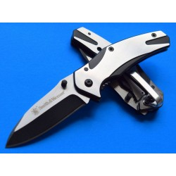 SWCK401 Couteau Smith&Wesson Tactical Stainless Blade Aluminium Handle Framelock Clip - Livraison Gratuite