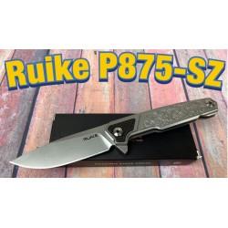 Couteau Ruike P875-SZ Beta Plus Lame Acier 14C28N Manche Acier 420 Framelock Clip RKEP875SZ - Livraison Gratuite