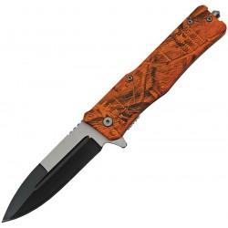 Lot de 10 Couteaux Tactical Orange Camo A/O Abs Handle Stainless Blade Linerlock CN300513OC - Livraison Gratuite
